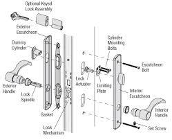 door lock hardware. Andersen Exploded Lock Trim Hardware Door R
