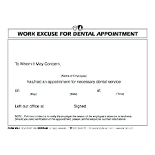 Dentist Excuse Template Medical Work Awesome Best Hospital