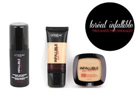 new from l oreal paris infallible pro matte and pro spray set