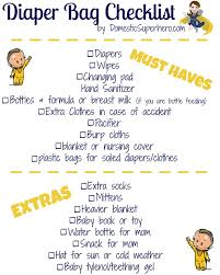Diaper Bag Essentials And A Free Printable Checklist! • Domestic ...