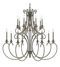 capital lighting 417701fg everleigh 16 light 50 inch french greige chandelier ceiling light