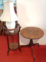 antique mahogany plant stand small round pedestal table and