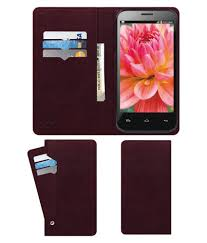 Lava Iris 505 Flip Cover by ACM - Red ...