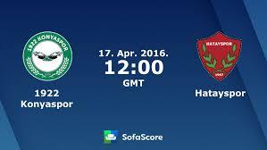 1922 Konyaspor Hatayspor live score, video stream and H2H results -  SofaScore