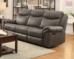 coaster furniture sawyer taupe fabric cushion motion sofa the classy home