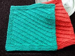 Sugar And Cream Knit Dishcloth Pattern Fascinating Dishcloth 48 Diagonal Slip Stitch Knitting Unlimited