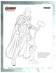 Thor Coloring Page Avengers Coloring Page Thor Coloring Pages