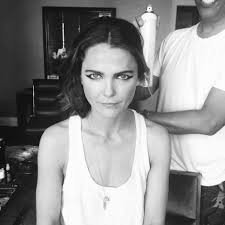 Keri Russell Keri Russell And Matthew Rhys Getting Ready For The Met Gala