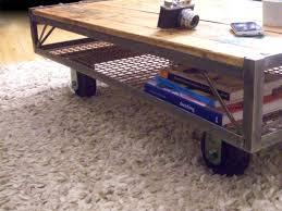 industrial furniture wheels. Industrial Pallet Coffee Table - Vintage Furniture Wheels