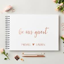 Wedding Guest Book Rose Gold Wedding Guest Book Martha Brook