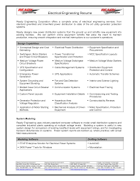 Resume Of A Electrical Engineer Resume For Your Job Application