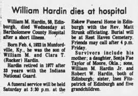 Obit for William Marshall Harding, II - Newspapers.com