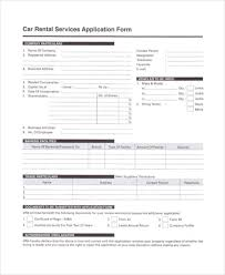 Car Rental Application Free Application Forms