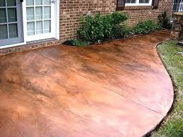 pictures of stained concrete patios how to acid stain a concrete patio