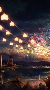 18++ Iphone Anime Night Sky Wallpaper