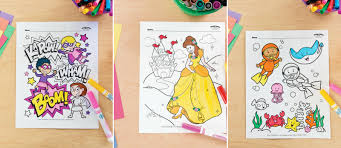 Free Girl Birthday Party Coloring Pages