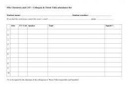 Attendance List Form 9 Attendance List Examples Pdf Doc