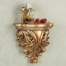 wall sconce shelf iliana wall shelf antique gold to expand goprosf lighting and chandeliers