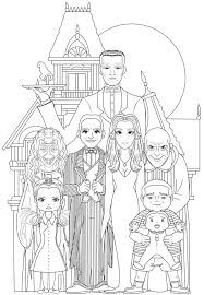 Famille Adams 2 Halloween Adult Coloring Pages