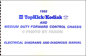 gmc c6000 topkick service manuals shop owner maintenance and 1992 chevy kodiak gmc topkick and p6 wiring diagram manual original
