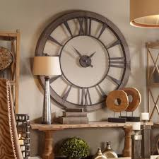 Industrial Wall Decor Details About Round Metal Wall Clock Office Gameroom Industrial
