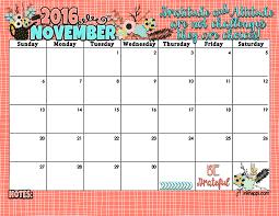 November Through November Calendars Printable November 2016 Calendar Pdf Printable Calendar Birthday
