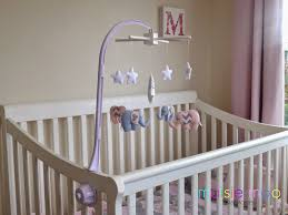 once your child can reach the mobile arm it is best that you hang your mobile from the ceiling or somewhere well out of reach