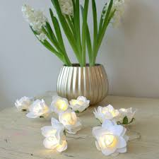 Cream Rose Fairy Lights Pin On Led