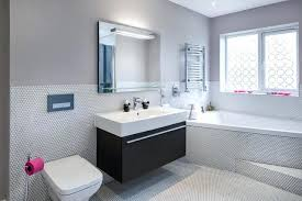 houzz bathroom tile inspiration for a contemporary white and mosaic floor drop in bathtub shower ideas