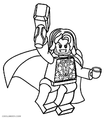 Captain America Lego Coloring Pages At Getdrawingscom Free For