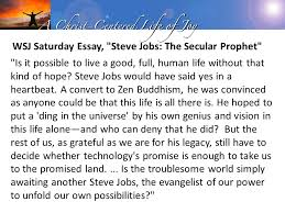 citizens of heaven phil philippians for as i have often  wsj saturday essay steve jobs the secular prophet is it possible to live a