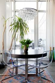 eclectic dining room designs. dazzling ikea table tops technique new york eclectic dining room decorating ideas with chandelier clear chairs kilim designs