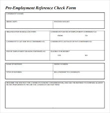 Creative Employment Reference Check Form That Employers Use