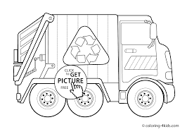 Small Picture Garbage Truck Transportation Coloring Pages for kids printable