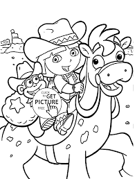 Dora Coloring Pages For Kids Printable Free
