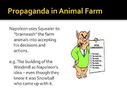 thematic study propaganda ppt video online  propaganda in animal farm