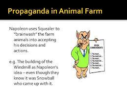 thematic study propaganda ppt video online propaganda in animal farm