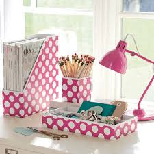 desk accessories for girls. Contemporary Accessories Printed Paper Desk Accessories Set Carmine Rose Dottie And For Girls PBteen