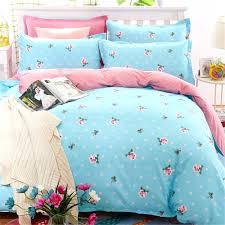 bluepink color printed fl bedding sets 4pcs teen girls bedroom home textiles decoration quilt cover pillowcase