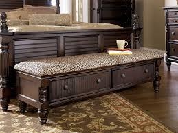 Long Bedroom Bench Black Storage Benches Elegant Furniture Design