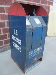 Post Office Stamp Vending Machine Inspiration Vintage US POSTAGE STAMPS Vending Machine Post Office Mailbox