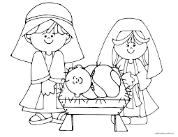 Christmas Nativity Coloring Pages Printable Printable Educations