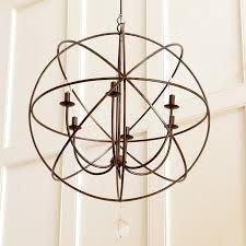 restoration hardware foucault s iron orb chandelier 750 ballard designs orb chandelier