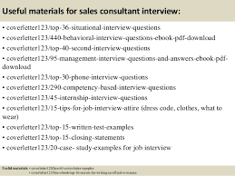 12 useful materials for sales consultant cover letter sales consultant