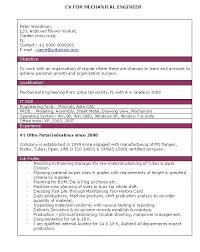 Be Mechanical Engineering Resume Mechanical Engineer Resume Samples