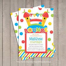 bounce house birthday invitation bounce house invitation bounce house invitation ball pit birthday invitation ball pit 128270zoom