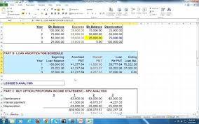 Template Lease Amortization Schedule Template Auto Loan Excel