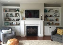astonishing fireplace built in cabinets ideas built ins around brick fireplace white cabinets