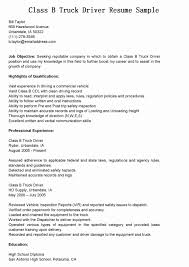 Resume Samples For Truck Drivers With An Objective