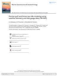 Gulf Tide Chart Pdf Persian Gulf And Oman Sea Tide Modeling Using Satellite